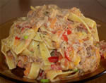 Tuna and sweet pepper Pasta with herbes de Provence