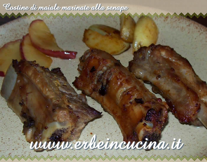 Costine marinate alla senape