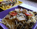 Aubergines and Pesto Pasta