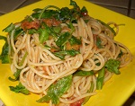 Rocket and chives spaghetti